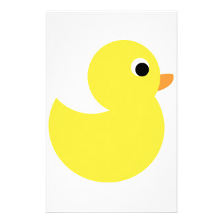 Yellow Rubber Duck Customized Stationery