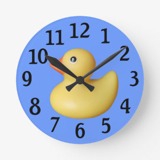 Yellow Rubber Duck Wall Clock