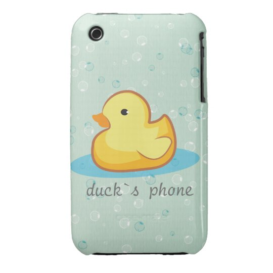 Yellow rubber duck with bubbles iPhone 3G/3GS Case