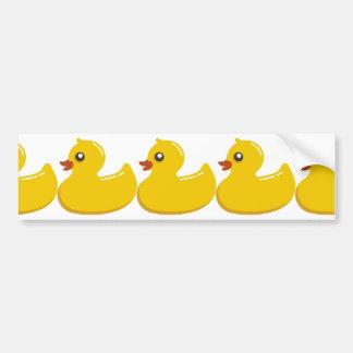 Yellow Rubber Duckie Bumper Sticker