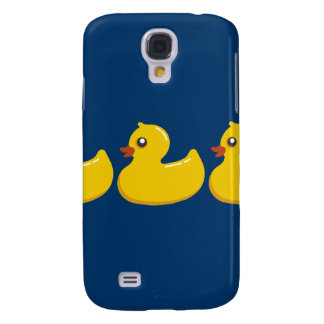 Yellow Rubber Duckie Graphic Art Galaxy S4 Cases