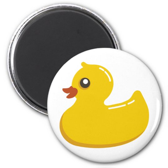 Yellow Rubber Duckie Graphic Art Magnet