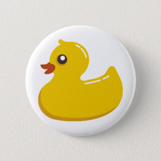 Yellow Rubber Duckie Pinback Button