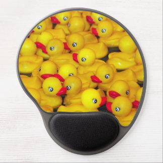 Yellow rubber duckies bathtime gel mousepad