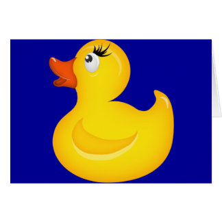 Yellow Rubber Duckies Cards