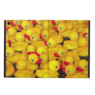 Yellow rubber duckies ipad case