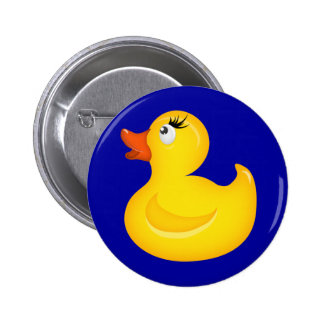 Yellow Rubber Duckies Pinback Button