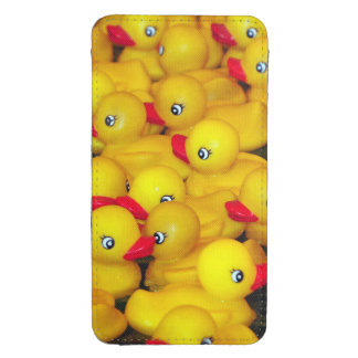 Yellow rubber duckies print smartphone pouch