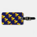 Yellow Rubber Duckies Travel Bag Tags