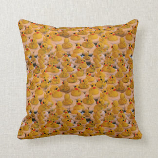 Yellow Rubber Ducks Animal Pattern Throw Pillow