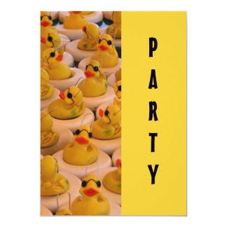 """Yellow Rubber Ducks Fun Invitation 5"""" X 7"""" Invitation Card"""