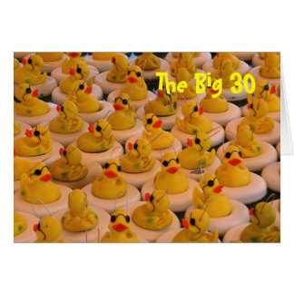 Yellow Rubber Ducks Funny 30th Birthday Card
