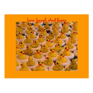 Yellow Rubber Ducks Inspirational Postcard