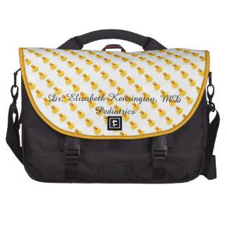 Yellow Rubber Ducks Laptop Messenger Bag