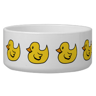 Yellow Rubber Ducks Pet Bowl