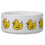 Yellow Rubber Ducks Pet Bowl Dog Water Bowls