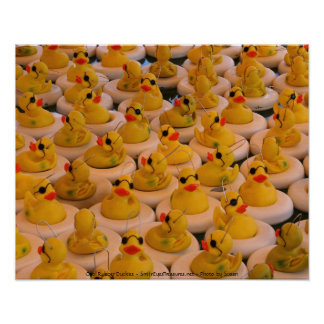 Yellow Rubber Ducks Photography Poster Print