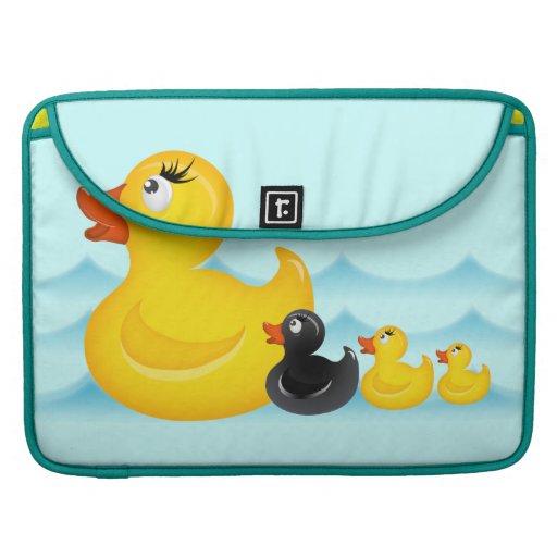 Yellow Rubber Ducks Rickshaw Flap Sleeve Sleeves For MacBooks