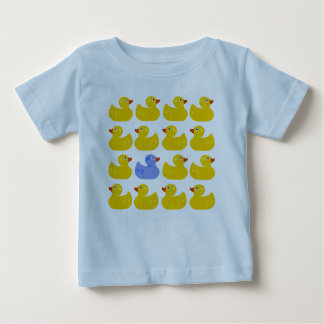Yellow Rubber Ducks with One Blue Duck Baby T-Shirt