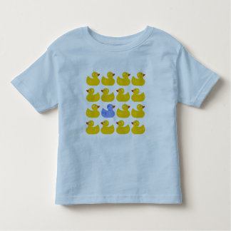 Yellow Rubber Ducks with One Blue Duck Toddler T-shirt
