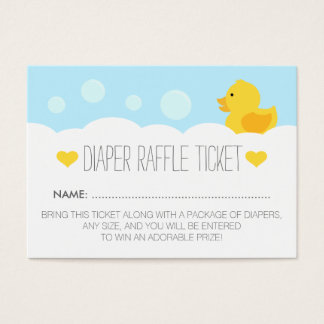 Yellow Rubber Ducky Bubble Bath Baby Shower Business Card