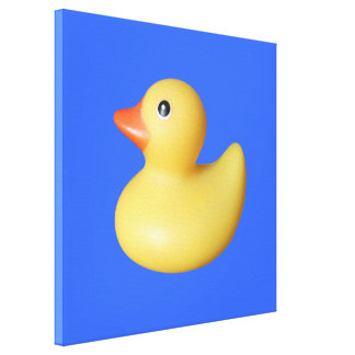 Yellow Rubber Ducky Canvas Print