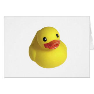 Yellow Rubber Ducky Card