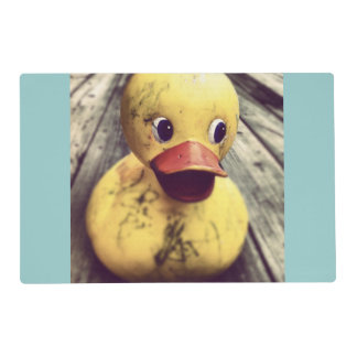 Yellow Rubber Ducky Covered in Dirt! Placemat