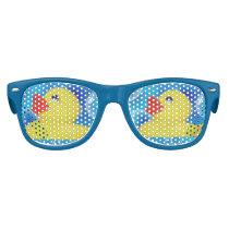 Yellow Rubber Ducky in Bubbles Kids Sunglasses