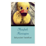 Yellow Rubber Ducky Needs a Bath! Double-Sided Standard Business Cards (Pack Of 100)