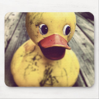 Yellow Rubber Ducky Needs a Bath! Mouse Pad