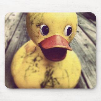 Yellow Rubber Ducky Needs a Bath! Mousepads