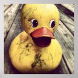 Yellow Rubber Ducky Needs a Bath! Poster