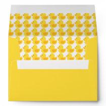 Yellow Rubber Ducky Pattern Envelope
