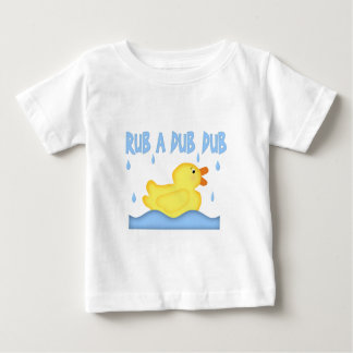 Yellow Rubber Ducky Rub A Dub Dub Baby T-Shirt