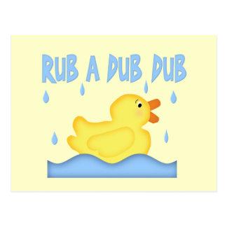 Yellow Rubber Ducky Rub A Dub Dub Post Card