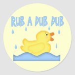 Yellow Rubber Ducky Rub A Dub Dub Sticker