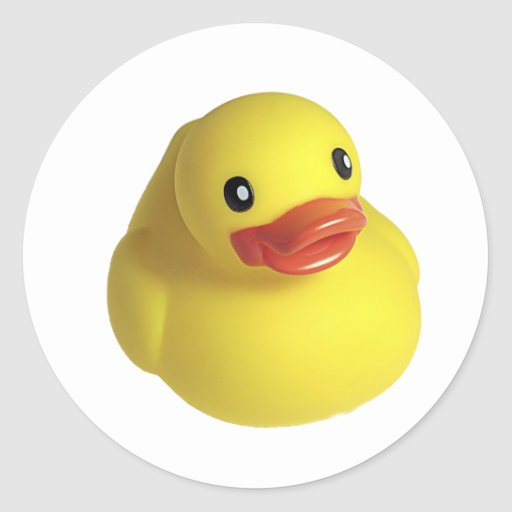 Yellow Rubber Ducky Stickers