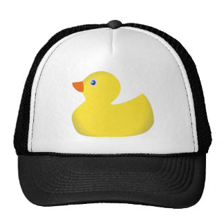 Yellow rubber ducky trucker hat