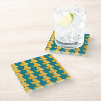 Yellow Rubberduck Glass Coaster