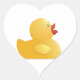 Yellow Rubberduck Heart Sticker
