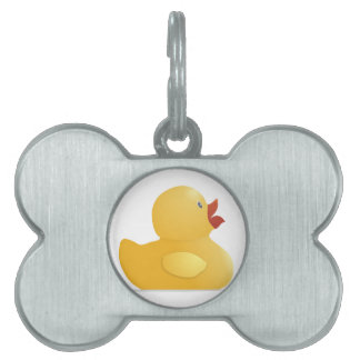 Yellow Rubberduck Pet Name Tag
