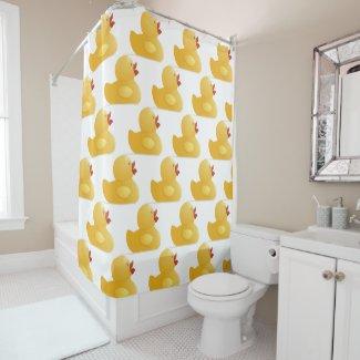 Yellow Rubberduck Shower Curtain