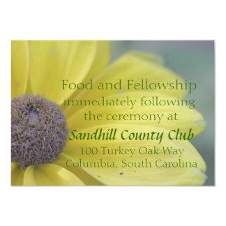Yellow rudbeckia blossom card