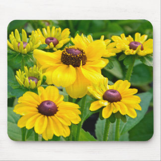 Yellow rudbeckia flower garden mouse pad