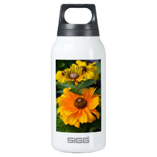 Yellow rudbeckia flowers in full bloom insulated water bottle