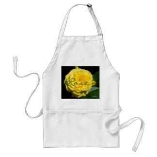 Yellow Ruffle Rose Adult Apron