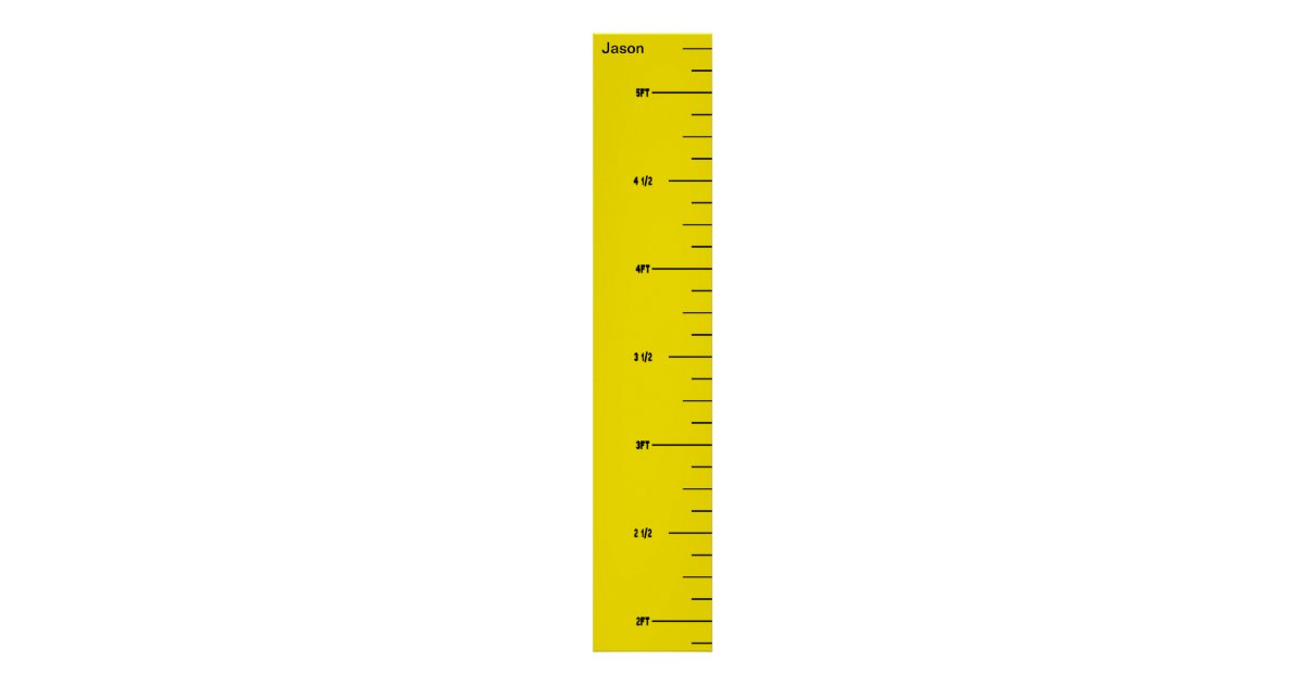 yellow ruler growth chart zazzle
