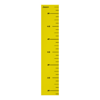 Yellow Ruler Growth Chart Poster