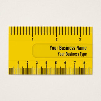 Yellow Ruler or Yardstick Technical Industry Business Card